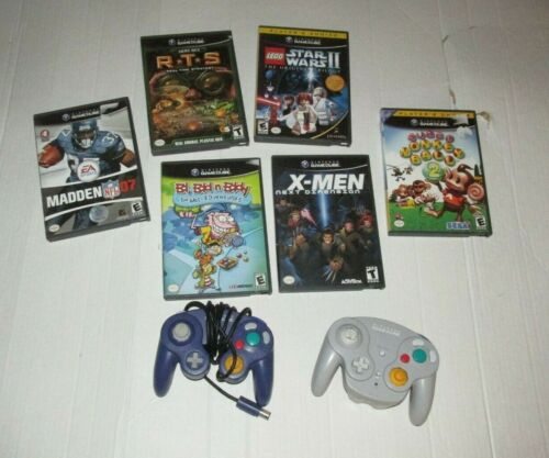 Nintendo Gamecube Controller And Game Lot Untested Super Monkey Ball 2 Madden 07