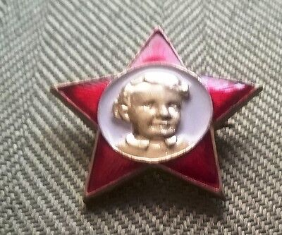 """ORIGINAL SOVIET  """"OKTYABRYATSKAYA  ZVEZDOCHKA"""" STAR PIN YOUNG LENIN"""