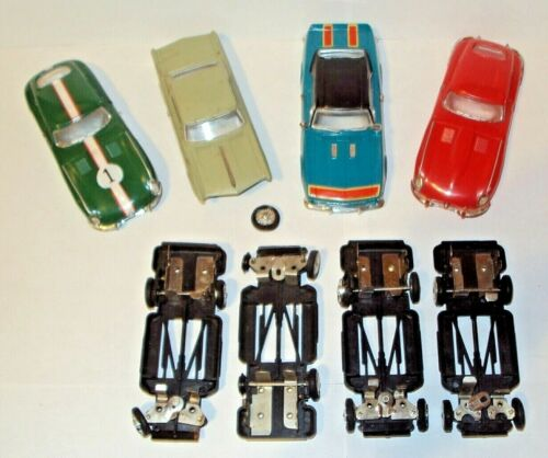 Ideal Motorific Racerific Slot Car Bodies Chassis * Restoration Parts Firebird