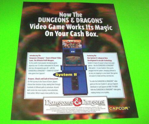 Dungeons & Dragon Arcade Game FLYER Original Capcom Video Artwork Sheet