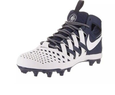 Nike Huarache 5 V Men's Lacrosse Cleats Size 12 Midnight Navy White 807142-410