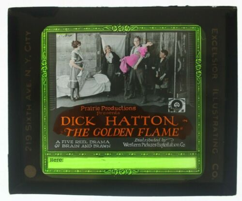 The Golden Flame 1923 glass slide - Dick Hatton - free shipping