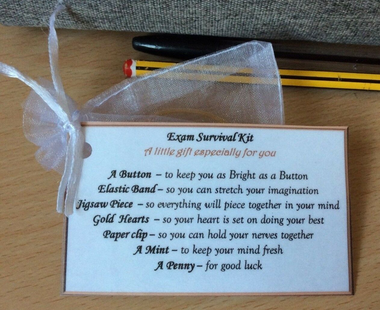 Details About Fun Keepsake Exam Survival Kit Gift For Music Dance Exam Car Theory School Gift