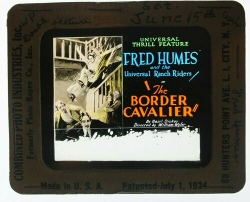 The Border Cavalier 1927 glass slide - Fred Humes - free shipping