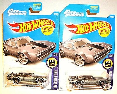 2017 HOT WHEELS LOT OF 2 - THE FATE OF THE FURIOUS ICE CHARGER #2/10