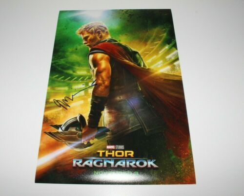 DIRECTOR TAIKA WAITITI SIGNED THOR: RAGNAROK 12x18 MOVIE POSTER A w/COA MARVEL
