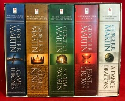 Box Set GAME OF THRONES Lot 5 Paperback Books by George R R Martin