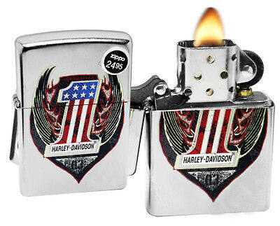 Zippo 29347 Harley Davidson Street Chrome Finish Color Image Windproof Lighter
