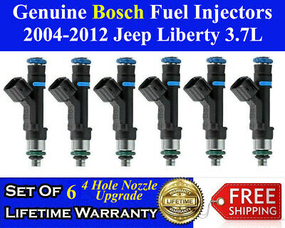 4 Hole Upgrade Genuine 6X Bosch Fuel Injectors For 2004-2012 Jeep Liberty 3.7L