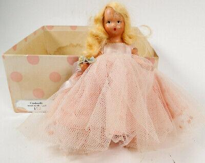 Nancy Ann Storybook Doll #155 Cinderella - 40's Bisque - Original Box - Jointed