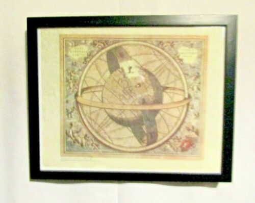 Armillary Sphere by Andreas Cellarius Reproduction Print Framed