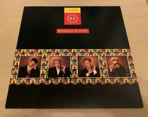 LEVEL 42   -  RUNNING IN THE FAMILY  -  MARK KING  SIGNED   LP    -  UACC RD