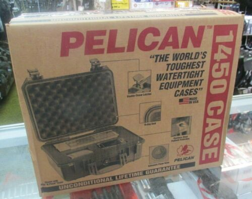 """Factory New Pelican 1450-001-190 Tan Watertight Protector Case US Made """"EMPTY"""""""