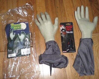 Halloween Decorations Party Zombie Arms Hands Lawn Stakes Creepy Prop fake blood - Zombie Hands Halloween Decorations