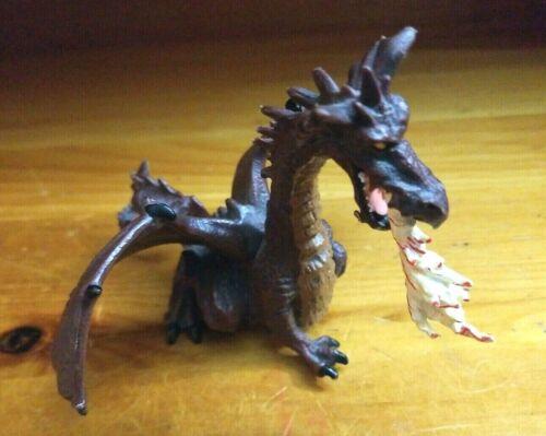 Dark Red Fire Breathing DRAGON PVC Figurine (Papo, 2005) Figure
