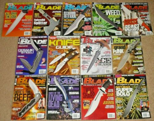 13 BLADE Magazines Knives Complete Year 2012 Vol. 39 Issue 1-13