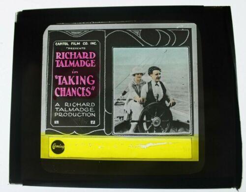Taking Chances 1922 glass slide - Richard Talmadge - free shipping