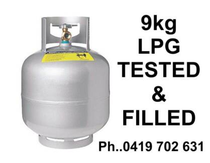 9kg LPG BOTTLE ... Full of gas 8.5kg