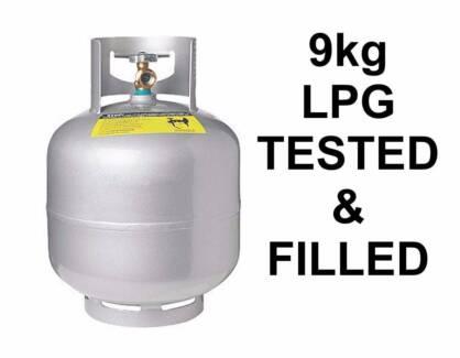 9kg GAS BOTTLE ... Tested & filled