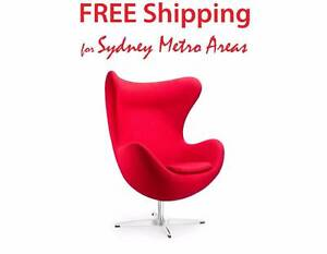 Clearance SALE - Arne Jacobsen Style Cashmere Egg chair Zetland Inner Sydney Preview