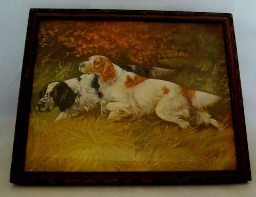 "Springer Spaniel Dog Hunting Print W/ Vintage Frame 8"" X 10"""