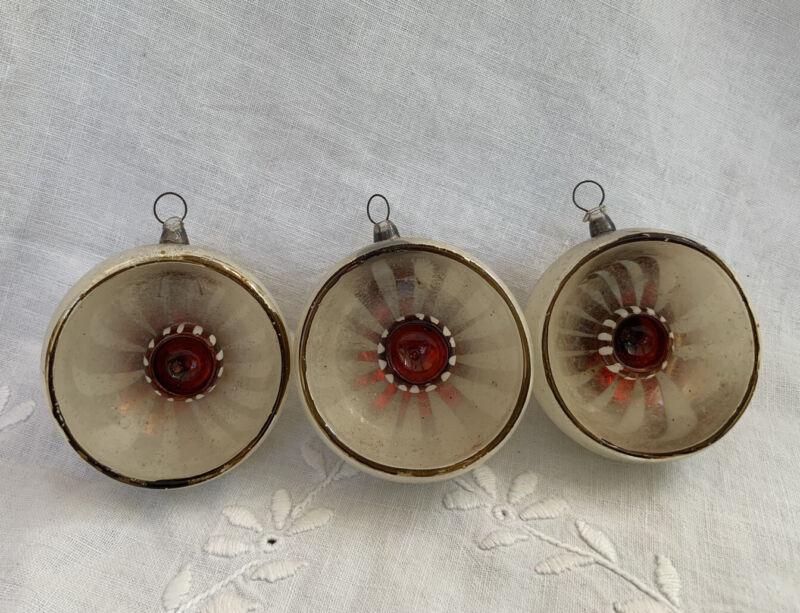 Rare Antique German Italian? Kaleidoscope Glass Pinwheel Ornaments 1930