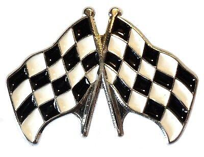 Chequered Flag Motorsport Badge For F1 Karting, Speedway, Banger Racing or BTCC