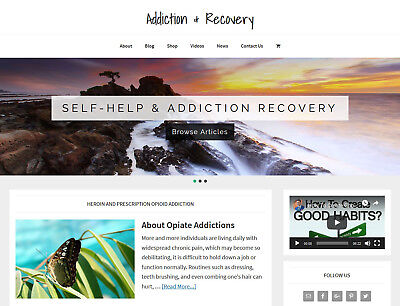 Recovery Addiction Store Blog Website Business For Sale With Auto Content