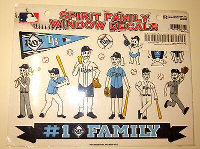 Tampa Bay RAYS MLB Family Spirit Window Decals BASEBALL Fan Sticker Car - Mlb Spirit Tampa Bay