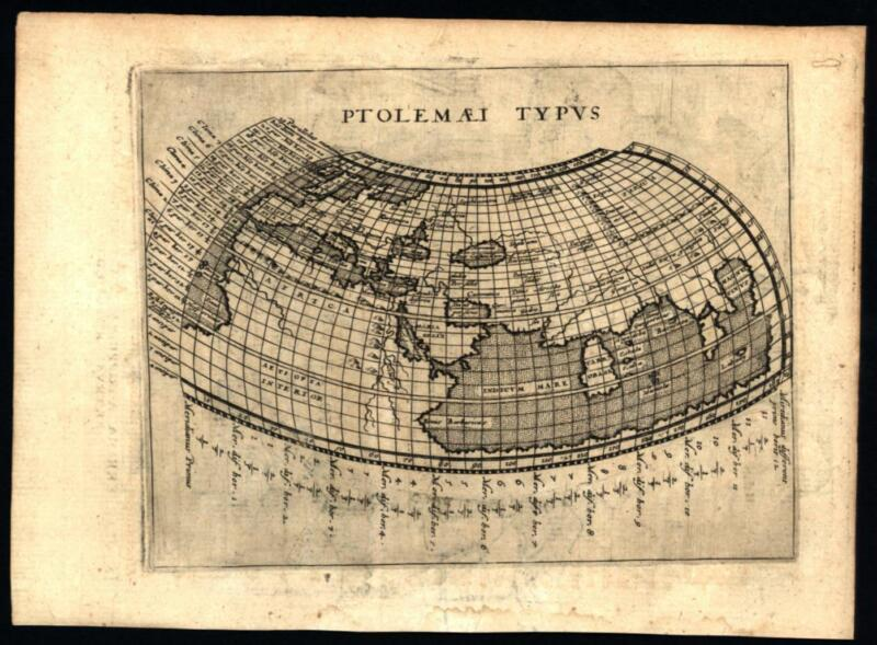 Known ancient world Asia Taprobana Mythical Southern continent 1597 Ruscelli map