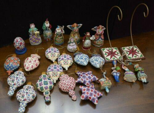 Assorted Jim Shore / Heartwood Creek Christmas Ornaments, Star, 12 Days, Santa