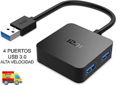 HUB USB 3.0 CON 4 PUERTOS 3.0 DE ALTA VELOCIDAD WINDOS MAC...