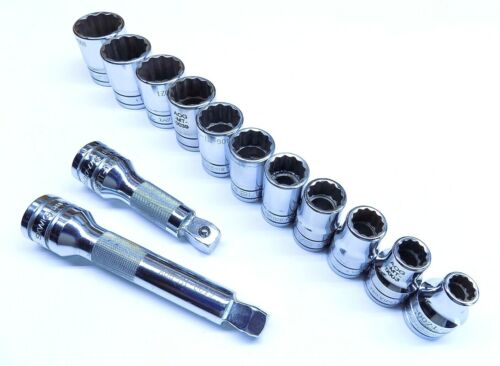 "13 Pc Snap On 1/2"" Drive 12 Point Shallow Socket Set"