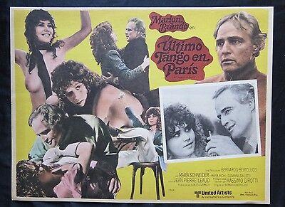"""LAST TANGO IN PARIS"" MARLON BRANDO MARIA SCHNEIDER UNUSED LOBBY CARD SET  1973"