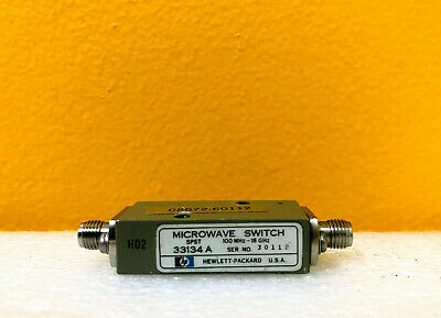 Hp Agilent 33134a 10 Mhz -18 Ghz 50 Ohm Spst Coaxial Microwave Switch. Tested