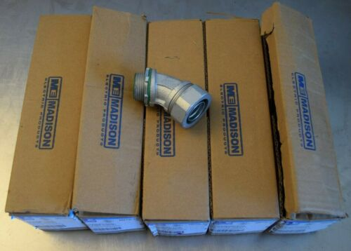 """Lot of 25 ME 1"""" LT Connector Insulated Throat - Liquid Tight 45 Degree - New"""