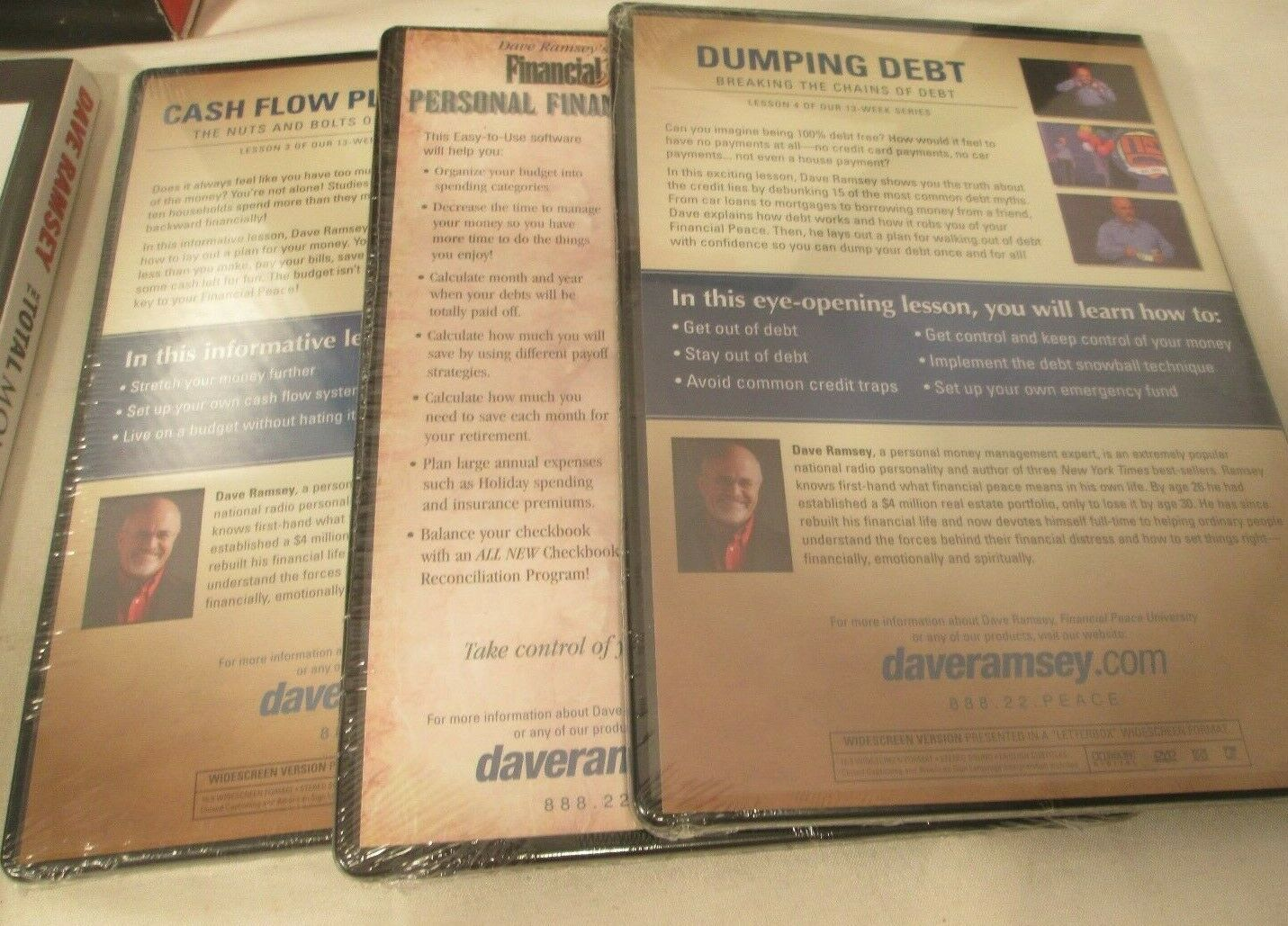 Dave Ramsey Total Money Makeover Starter Set New Old Stock Included DVD s, Books - $34.99