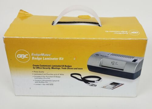 "GBC Badgemates 4"" ID Badge Laminator Kit 3747486 Model: H45"