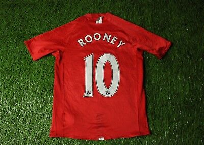 f7d6200ef MANCHESTER UNITED   10 ROONEY 2007-2009 FOOTBALL SHIRT JERSEY HOME NIKE  ORIGINAL