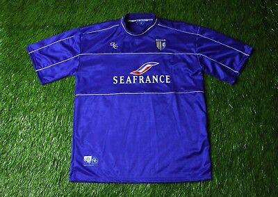 GILLINGHAM ENGLAND 2001-2002 FOOTBALL SHIRT JERSEY HOME GILLS LEISURE ORIGINAL image