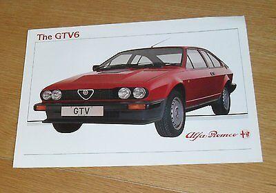 Alfa Romeo GTV 2.5 Brochure Flyer 1983
