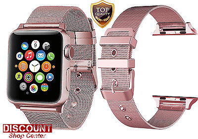 Apple Watch Strap Band 38mm Stainless Steel Classic Buckle Bracelet Wrist Series