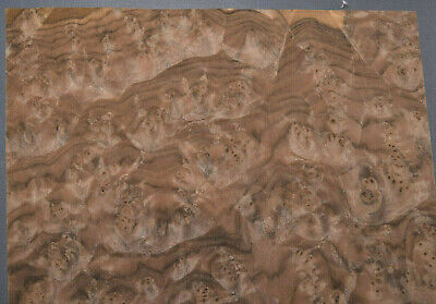 Walnut Burl Raw Wood Veneer Sheets 12 X 13 Inches 142nd Thick   E4704-47