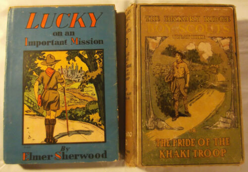 Lot of 2 Antique Vintage BOY SCOUTS of AMERICA BOOKs. 1913-1917. BSA. Hardcover
