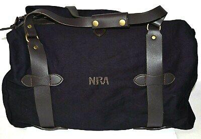NRA Bag National Rifle Association Duffle Gun Range W Leather Straps *Best (Best Leather Duffle Bag)