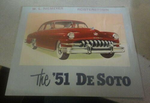 RARE! 1951 DeSoto Automobile Brochure It