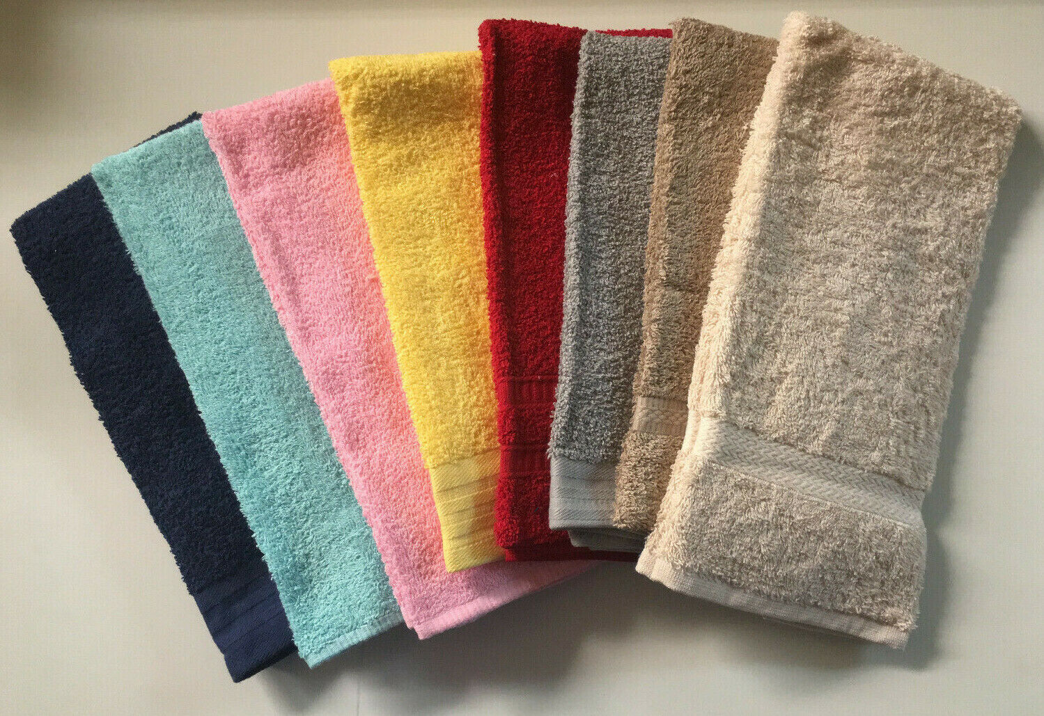 Set of 2 100% Cotton Terry Hand Towels