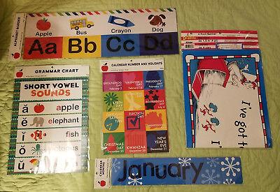 Teacher Classroom Supplies*Posters*Alphabet*Months*Grammar*Holiday*Dr - Holiday Supplies