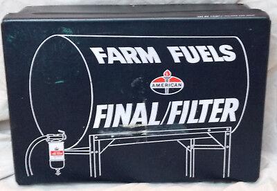 American Standard Farm Fuels Final/Filter Gas Oil Station Service Case Box VTG - American Standard Filter