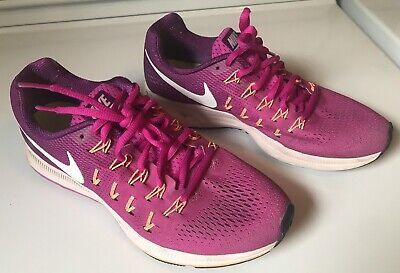 women's nike air zoom pegasus 33 Running Shoes Purple Pink Size 9 US